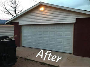 Replaced garage door in St George Utah
